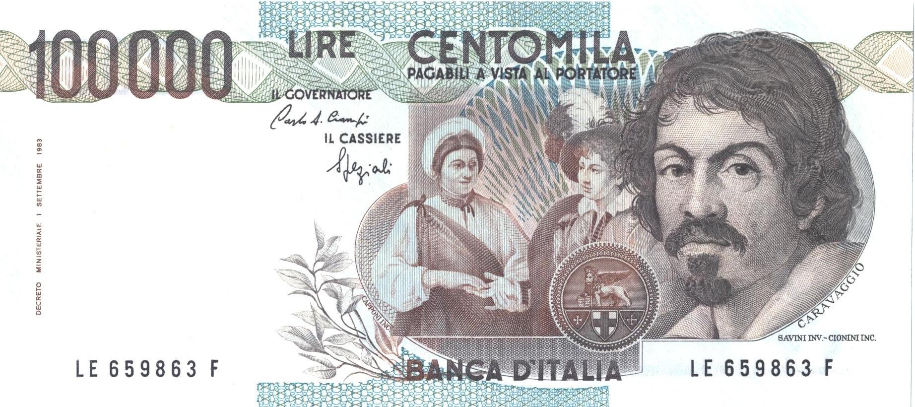 100.000-lire-Caravaggio-I-Tipo-F1
