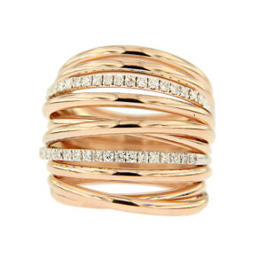 anello fascia con diamanti