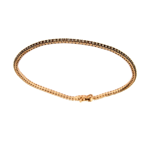 bracciale tennis diamanti brown
