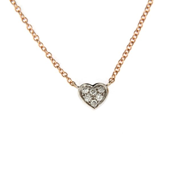 collana cuore con diamanti