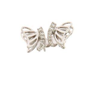 orecchini farfalla oro e diamante