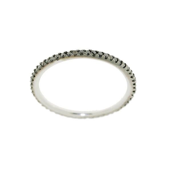 anello fedina diamanti neri