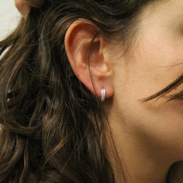 orecchini boccole oro e diamanti