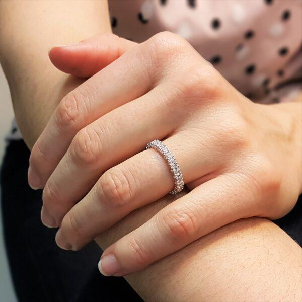 anello donna con diamanti