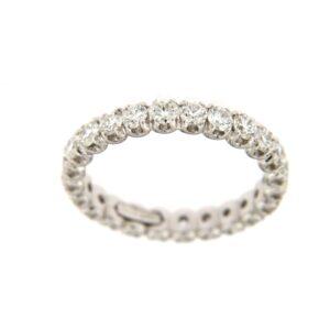 anello girodito 18 kt e diamanti