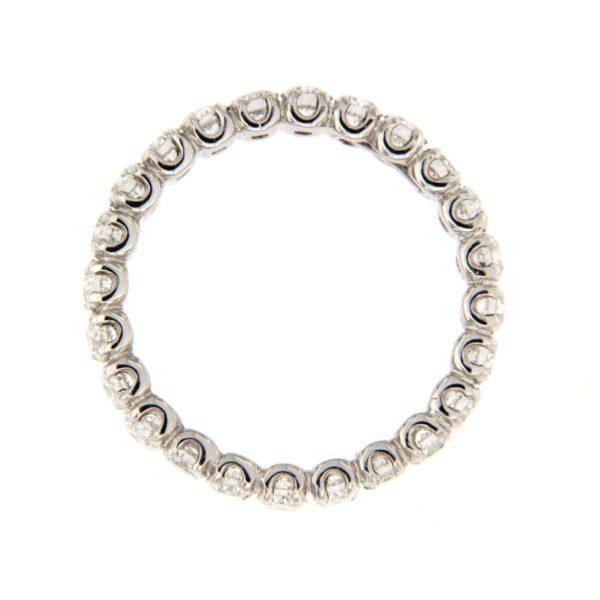 anello girodito oro e diamanti