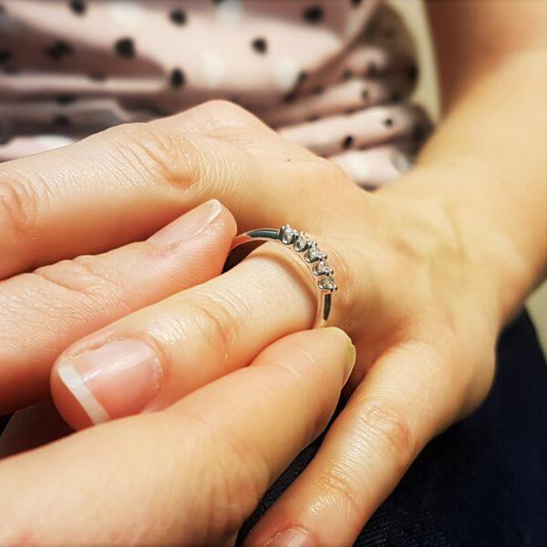 anello riviera donna con diamanti