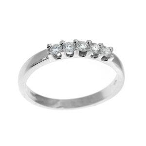 anello donna con 5 diamanti