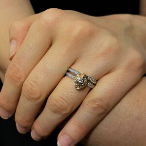 anello fantasia diamanti