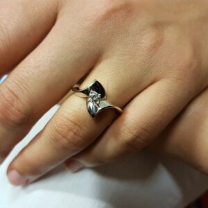 anello solitario pezzo unico