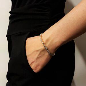 bracciale in oro con diamanti