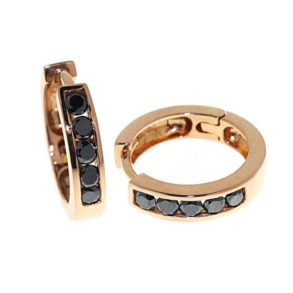 boccole con diamanti neri