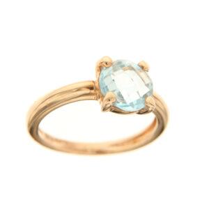 anello con topazio azzurro