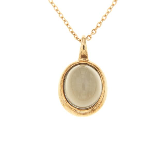 collana oro e pietra di luna