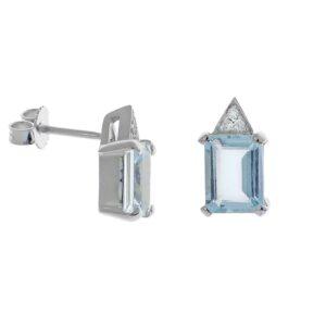 orecchini con acquemarine e diamanti