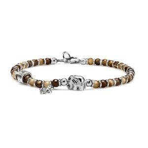 bracciale argento e pietre uomo elefante