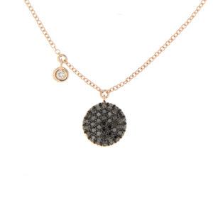 collana oro e diamanti neri